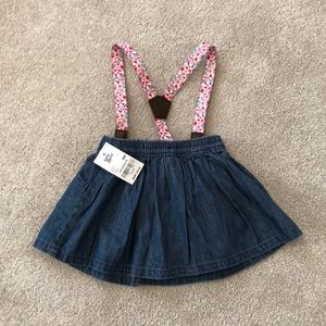 093ac9ae7ed9 NWT OshKosh denim skirt and suspenders